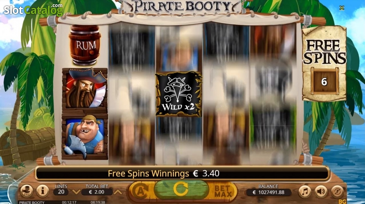 Pirate Booty Slot Review, Bonus Codes & where to play from United Kingdom