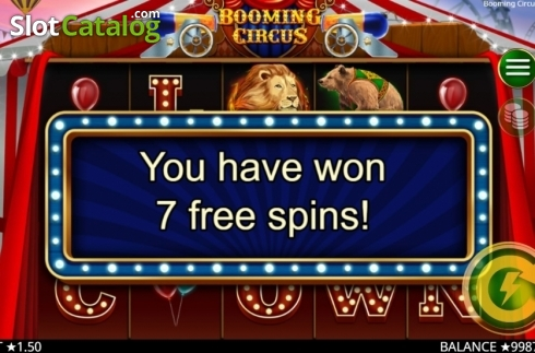 Skärm5. Booming Circus (Video Slot från Booming Games)