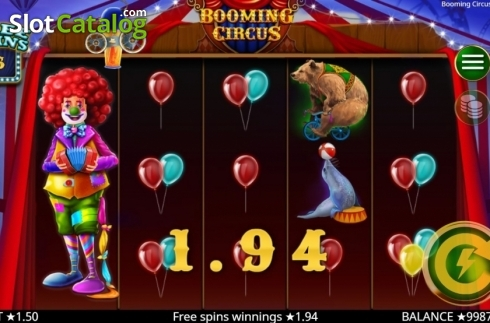 Skärm6. Booming Circus (Video Slot från Booming Games)