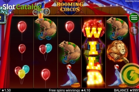 Free Spins 3. Booming Circus (Video Slot from Booming Games)