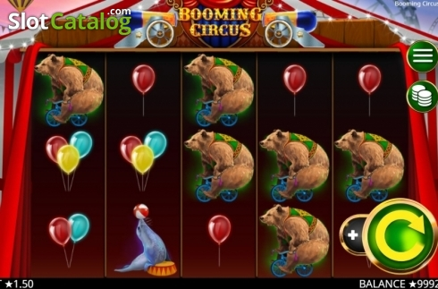Skärm2. Booming Circus (Video Slot från Booming Games)