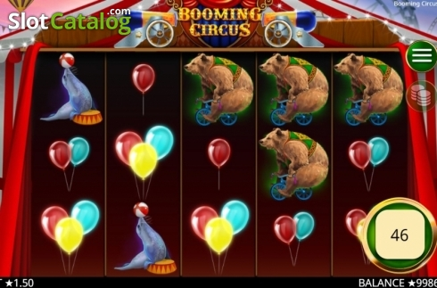 Skärm3. Booming Circus (Video Slot från Booming Games)