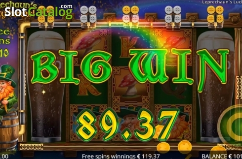 Big Win. Leprechaun's Lucky Barrel (Video Slots from Booming Games)