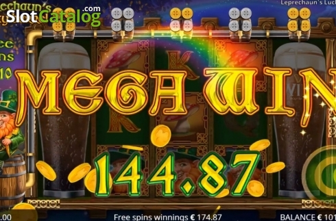 Mega Win. Leprechaun's Lucky Barrel (Video Slots from Booming Games)