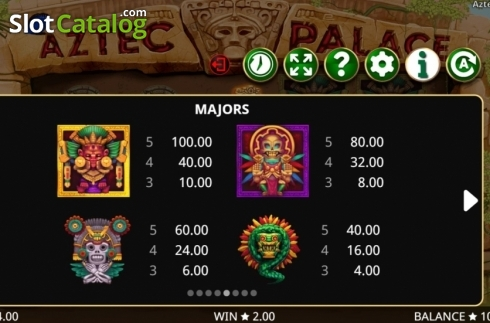 Képernyő15. Aztec Palace (Video Slot tól től Booming Games)