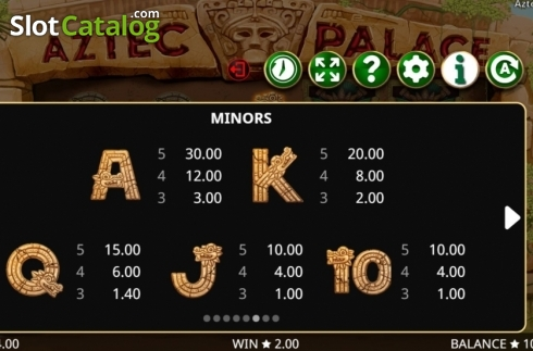 Képernyő16. Aztec Palace (Video Slot tól től Booming Games)