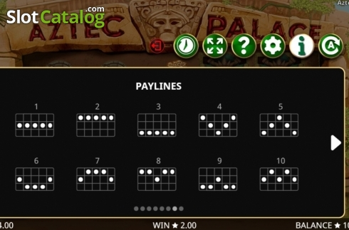 Képernyő17. Aztec Palace (Video Slot tól től Booming Games)