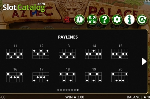 Képernyő18. Aztec Palace (Video Slot tól től Booming Games)