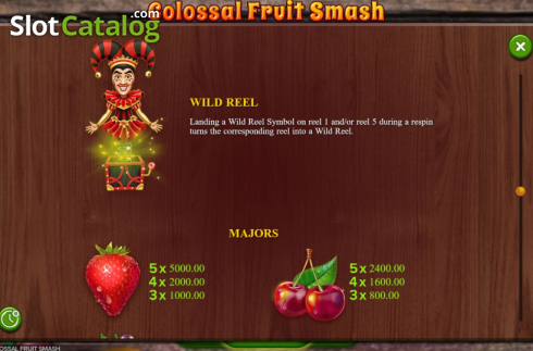Scherm10. Colossal Fruit Smash (Video Slot van Booming Games)
