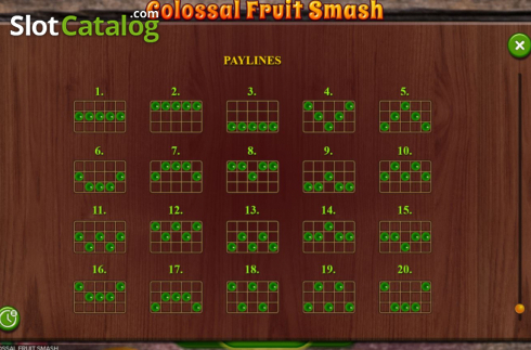 Scherm12. Colossal Fruit Smash (Video Slot van Booming Games)