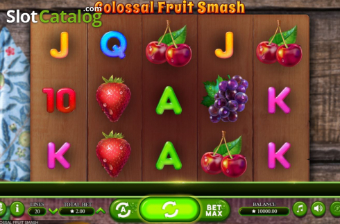 Scherm2. Colossal Fruit Smash (Video Slot van Booming Games)
