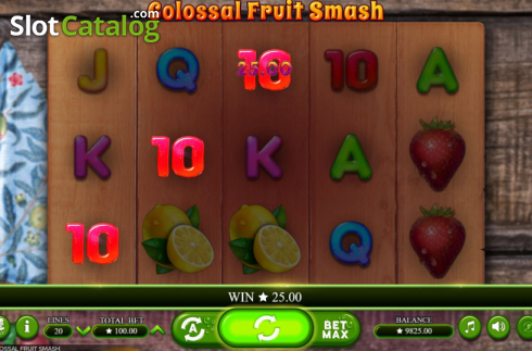 Scherm3. Colossal Fruit Smash (Video Slot van Booming Games)