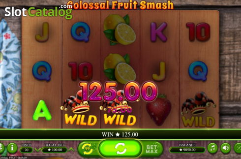 Scherm4. Colossal Fruit Smash (Video Slot van Booming Games)