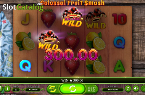 Scherm5. Colossal Fruit Smash (Video Slot van Booming Games)