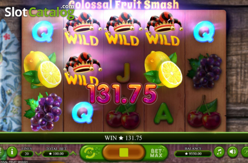 Scherm6. Colossal Fruit Smash (Video Slot van Booming Games)