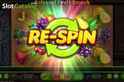 Scherm7. Colossal Fruit Smash (Video Slot van Booming Games)