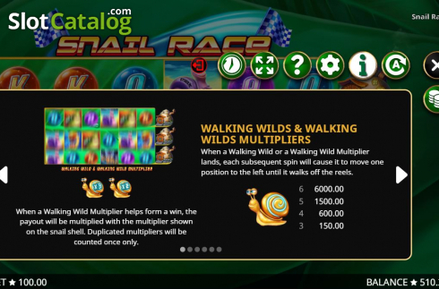 Features 1. Snail Race (Video Slot from Booming Games)