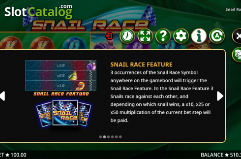 Features 2. Snail Race (Video Slot from Booming Games)