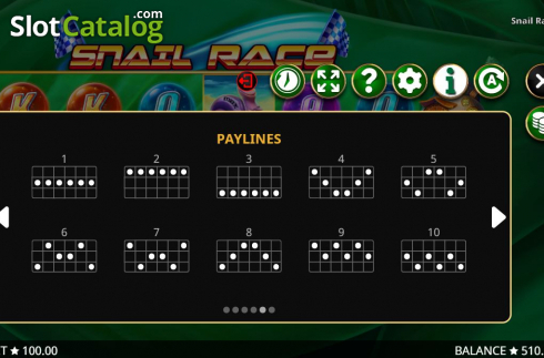 Paylines 1. Snail Race (Video Slot from Booming Games)