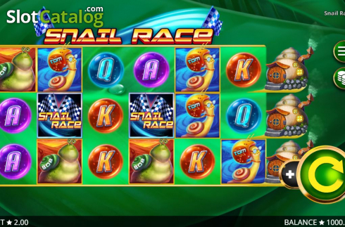 Reel Screen. Snail Race (Video Slot from Booming Games)