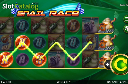 Win Screen 1. Snail Race (Video Slot from Booming Games)