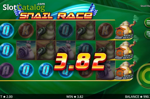 Win Screen 2. Snail Race (Video Slot from Booming Games)