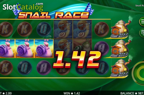 Win Screen 3. Snail Race (Video Slot from Booming Games)