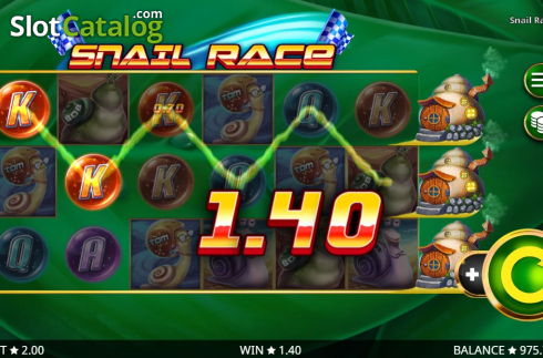 Win Screen 4. Snail Race (Video Slot from Booming Games)
