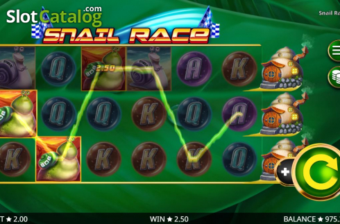 Win Screen 5. Snail Race (Video Slot from Booming Games)