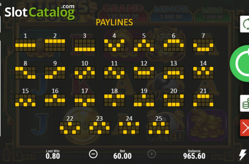 Skjerm12. Tiger's Gold Hold and Win (Video Slot fra Booongo)