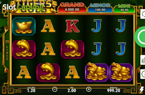 Skjerm3. Tiger's Gold Hold and Win (Video Slot fra Booongo)