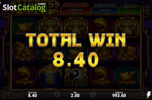 Skjerm7. Tiger's Gold Hold and Win (Video Slot fra Booongo)