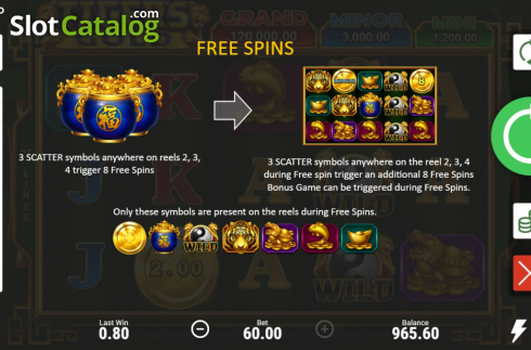 Skjerm9. Tiger's Gold Hold and Win (Video Slot fra Booongo)