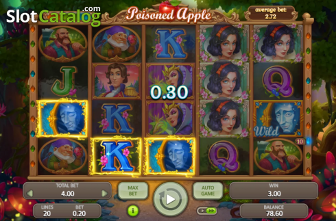 Win Screen2. Poisoned Apple (Video Slot from Booongo)