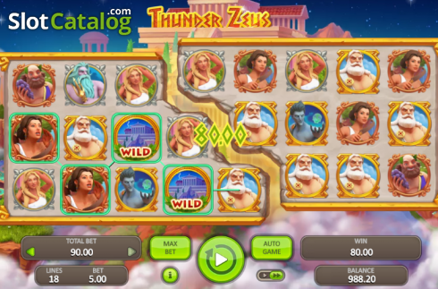 Win Screen. Thunder Zeus (Video Slot from Booongo)