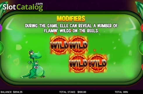 Features 2. Flamin Elle (Video Slot from CORE Gaming)