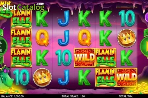 Reel Screen. Flamin Elle (Video Slot from CORE Gaming)