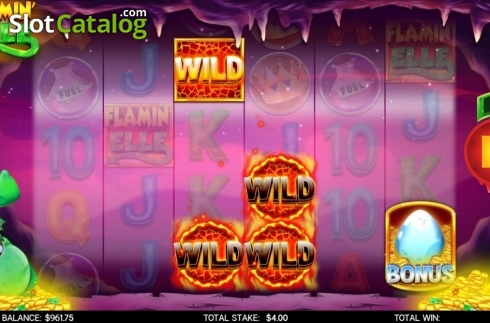 Feature. Flamin Elle (Video Slot from CORE Gaming)