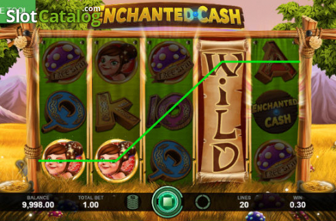 Win Screen. Enchanted Cash (Video Slot from Caleta Gaming)