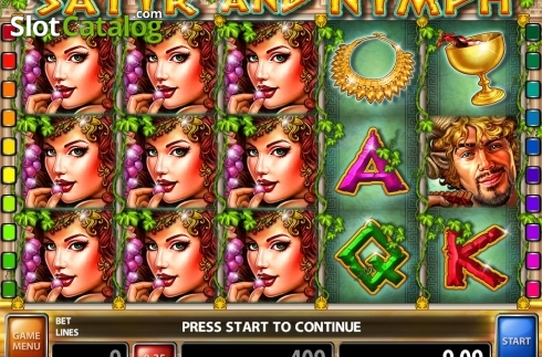 Win Screen 1. Satyr and Nymph (Video Slot from Casino Technology)