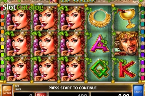 Win Screen 2. Satyr and Nymph (Video Slot from Casino Technology)