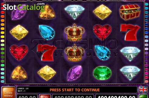 Screen2. 40 Shining Jewels (Video Slot from Casino Technology)