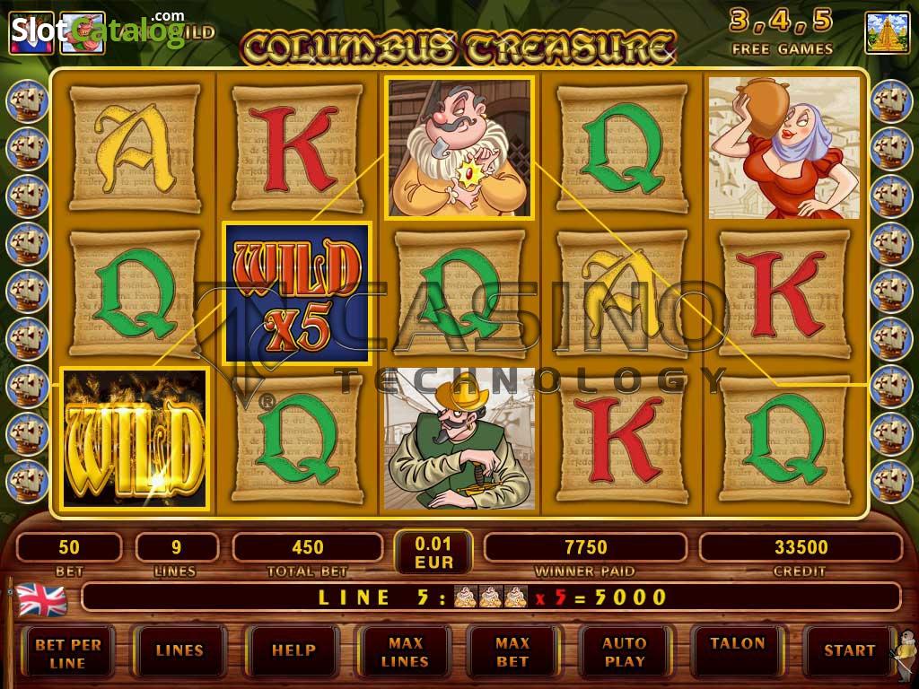 официальный сайт columbus treasure игровой автомат