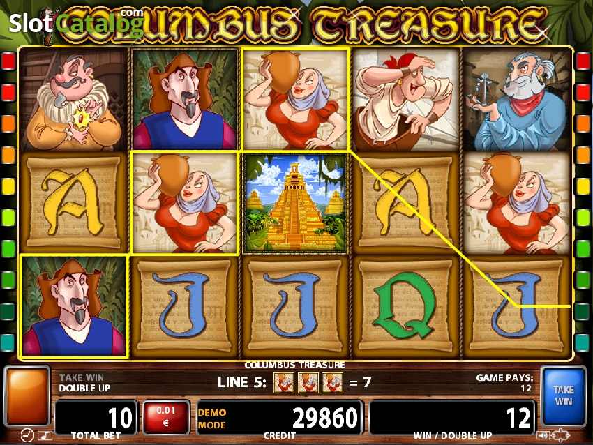columbus treasure игровой автомат
