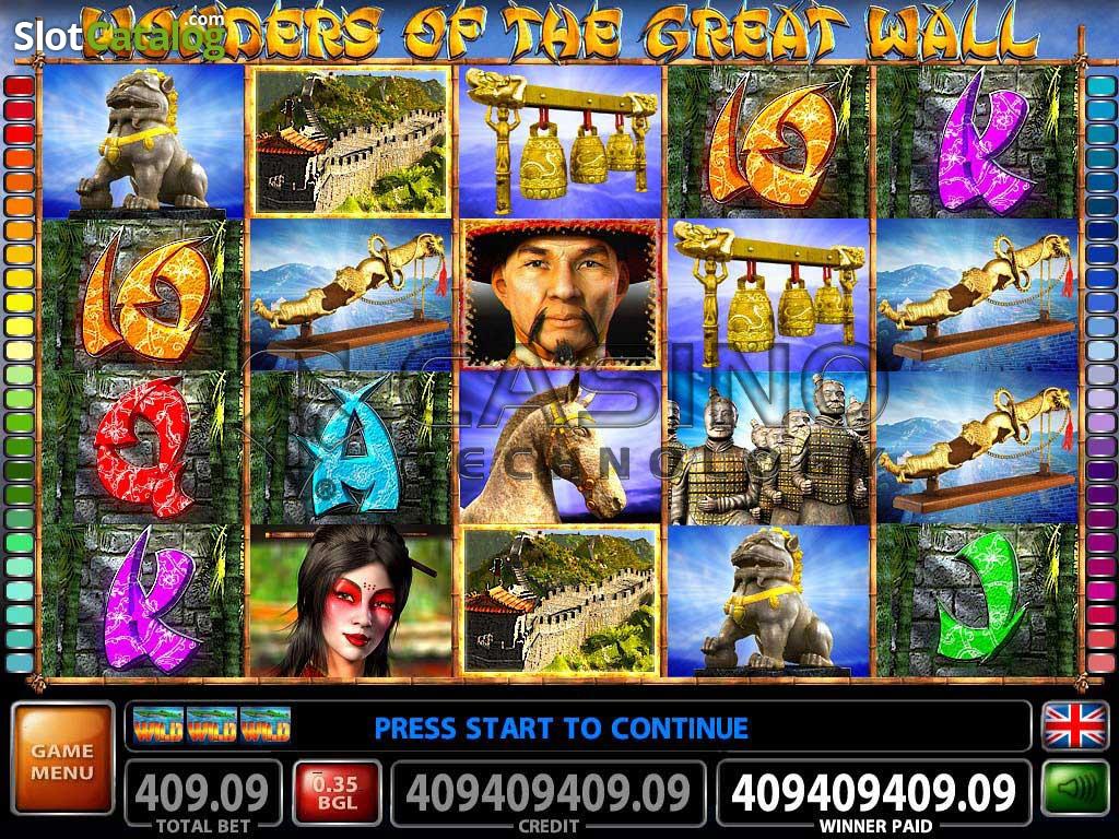 Great wall slot machine game free gambling sites