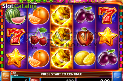 Skärm2. Fruit Dynamo (Video Slot från Casino Technology)