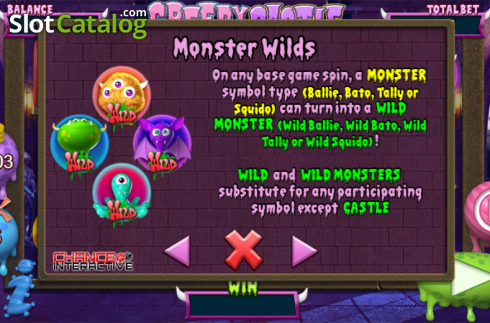 Betalingstabell 1. Creepy Castle (Video Slot fra Chance Interactive)
