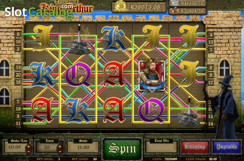 Screen16. Treasures of King Arthur (Video Slot from Cozy)