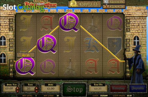 Screen17. Treasures of King Arthur (Video Slot from Cozy)