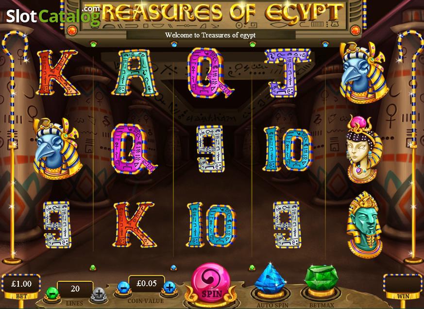 free slots treasures of egypt